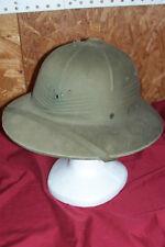 Old WWII Pith Helmet USMC Marine Army USGI GI Tropical Green Pacific Sun Jungle