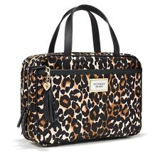 Victoria's Secret Leopard Hanging Travel Case Makeup Bag Easy Clean Lining, New.