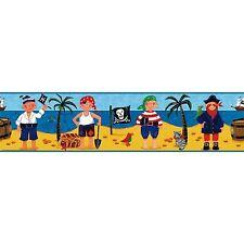 "Pirate / Pirates of Mystery Island 5"" Peel and Stick Wallpaper Border RMK1177BCS"