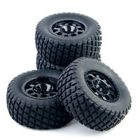 4pcs 1:10 Short Course Truck Tyre Tires Wheel 12mm Hex For TRAXXAS HSP  RC Car