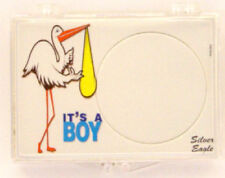 ASE It's A Boy - Stork, 2X3 Snap Lock Coin Holders, 3 pack