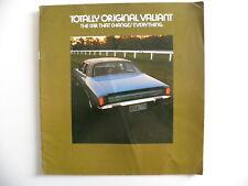 Brochure CHRYSLER VALIANT Totally Original AUSTRALIE de 1971
