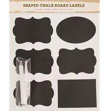12 Chalkboard Labels & Chalk Stickers Vintage Arts Crafts Blackboard Glass Jars