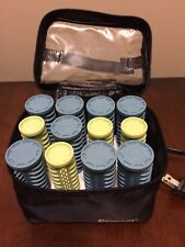 Conair HS28X Instant Heat TRAVEL SIZE Compact 2 Sizes 12 Rollers + Clips