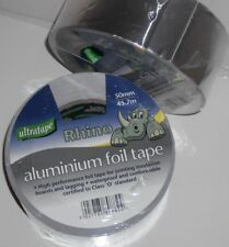 45.7M SELF ADH ALUMINIUM FOIL TAPE SILVER ELECTRIC HEAT REFLECTOR PIPE REPAIR