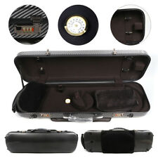 Black 4/4 violin case carbon fiber composite material light&strong#F3