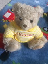 GIORGIO BEVERLY HILLS Collectable Teddy Bear 1996 with Yellow Stripey Jumper