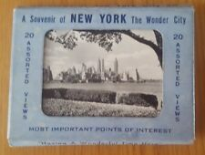 A Souvenir Of NEW YORK The Wonder City-20 Assorted Post Card Views In Black & Wh