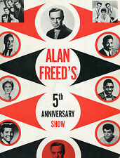 Alan Freed Concert Program 1950's Bo Diddley Jackie Wilson Dion Lloyd Price