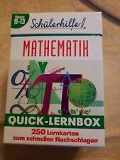 Schülerhilfe Mathematik Quick-Lernbox Mathe Lernkartensystem Klasse 11-13