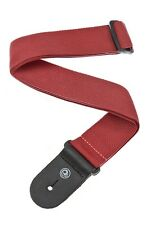 D'Addario - Planet Waves Guitar Strap  Red  Poly  Leather Ends