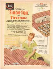1953 Vintage AD SERTA MATTRESS with Sleeper Foam by Firestone  013116