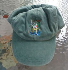 green embroidered ball cap hat novelty missed the ferry