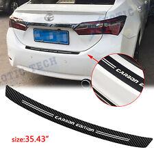 "For Toyota Camry Collora RAV4 4D Carbon Fiber Film Trunk Guard Plate Decal 35.4"""