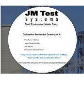 BALMAC 200/205/242 VIBRATION METER Calibration Service NIST-Traceable AD