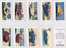 Cigarette cards  Miniature Cars & Scooters Ewbanks 1959 mint set
