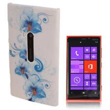 HardCase Backcover Schutzhülle für Nokia Lumia 920 Blüte blau weiß Hülle Case