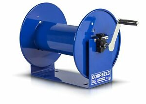 "Coxreels 112-3-100 Hand Crank Steel Hose Reel, 100 Series - 3/8"" x 100'"