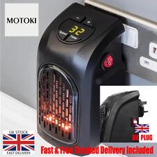 400W 220-240V Mini Furnace Portable Electric Wall Socket Personal Heater UK PLUG