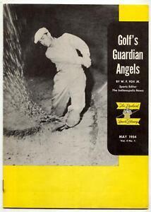 Golf's Guardian Angels Magazine MAY 1954-RARE USGA-PGA Packard Sports Library