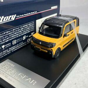 1/43 Hi-story GICO Suzuki Spacia GEAR Hybird XZ Turbo 2019 Yellow HS237YE