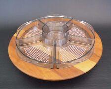 Lüthje Wood Teak Lazy Susan Rondell 50er 50s 60er 60s vtg vintage Danish Design