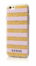 Cover Case Custodia Bumper Guess Stripes Pink effetto 3d per Apple iPhone 7