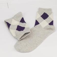 Winter Men Wool Blend Argyle Lijht Gray Casual Dress Socks Sports SZ 10-13 m8