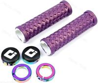 ODI VANS Lock-On Bike Grips Iridescent Purple w/ Oil Slick Clamps 130mm BMX/MTB