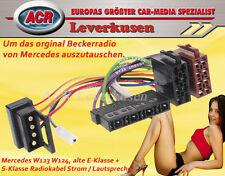 MERCEDES W123 W124 RADIOKABEL FÜR ORIGINAL BECKERRADIO VON MERCEDES RADIOADAPTER