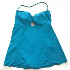 Carol Wior Slimsuit Bathing Suit Skirt One Piece Swimsuit Dress 20 Blue