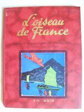 couverture Hergé Tintin oiseau de France en Asie rare album 1935 TBE aviation