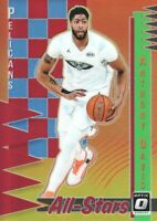 2018-19 Donruss Optic All-Stars Red #5 Anthony Davis 58/99 New Orleans Pelicans