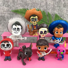 8pcs/set Movie Coco Pixar Miguel Riveras Characters Figure Toys Collectors Toys