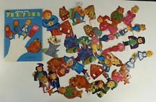 Vintage Paper Doll Lot WHITMAN 1969 Fairy Tale Finger Puppets Friends #1923