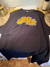 Nike Air Basketball Jersey Jordan Dri-Fit Set It Off Size Xxlt Black Yellow New