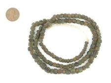 Ancient Stripe Java Gooseberry Beads 5mm Indonesia Brown Round Glass