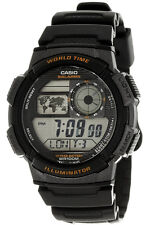 Casio AE1000W-1A World Time Digital Sports NEW Watch Alarm Chronograph Resin