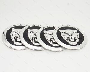 4x 56.5mm Car Accessories Wheel Center Covers Hub Caps Decal Logo For JAGUAR