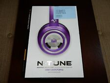 Monster N-Tune HD Colour it Loud On Ear Headphones - Purple (NEW, READ) #M198