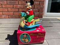 TM Modern Toys Japan Mickey Mouse Scooter In Its Original Box - Working RARE 60s