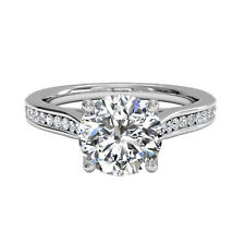 1.00 Ct Round Cut Diamond Engagement 14K Solid White Gold Women's Rings Size 6 5