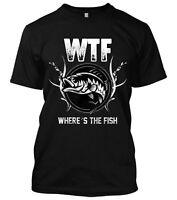 Where's The Fishing Funny New Mens Fishing Shirt Fisherman Fish Hunting Camo Tee