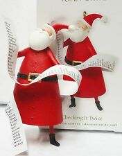 HALLMARK 2010 Checking It Twice Santa with List of Names Ornament NEW IN BOX