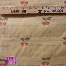 Home Decor Cherries On Beige Heavy Upholstery Fabric by the Yard