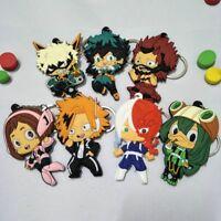Creative My Hero Academia Rubber Keychain Anime Boku No Hero Academia Keyring