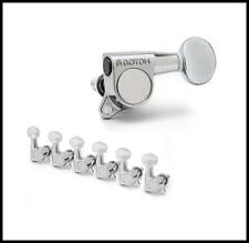 Gotoh Oval Knob 6 in Line Guitar Tuners 16.1 Ratio Chrome G03C