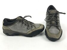 Merrell Quartz Brindle Gray Leather Suede Hiking Trail Shoes Womens SIZE 6