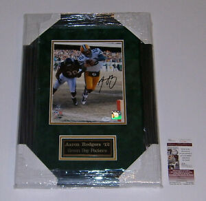 PACKERS Aaron Rodgers signed framed 8x10 photo JSA COA AUTO Autographed MVP