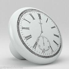 Clock Design Ceramic Knobs Pull Kitchen Bathroom Closet Drawer Cabinet 155